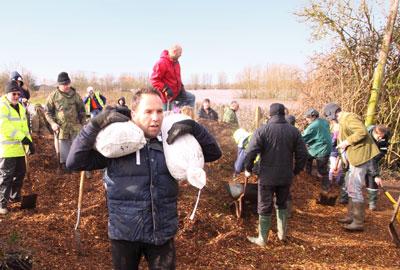 Volunteers help out in Somerset