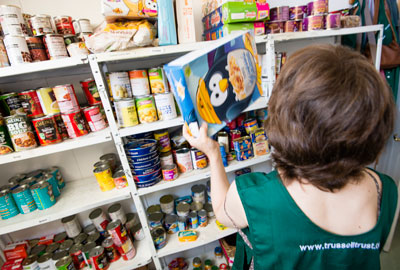 A food bank run by the Trussell Trust