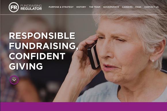 The Fundraising Regulator's website