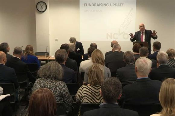 Sir Stuart Etherington addresses the summit