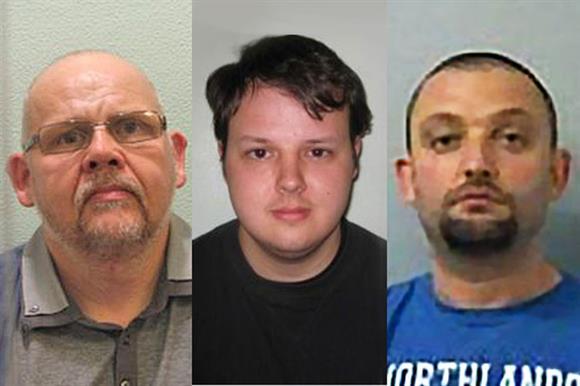 Jailed: John Davies, Ben Davies and Olsi Vullnetari