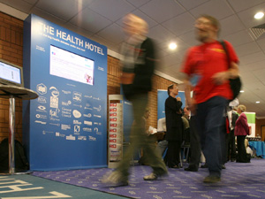 Gathering: The Health Hotel brings together 35 organisations at party conferences