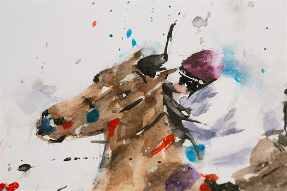 A detail from one of the artworks available in the auction