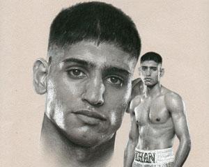 Amir Khan: subject of portrait