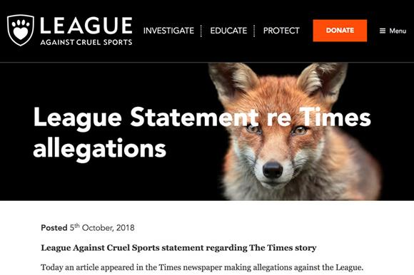The league's statement appeared on its website