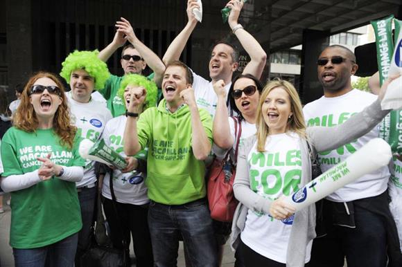 Macmillan and Boots staff at the London Marathon