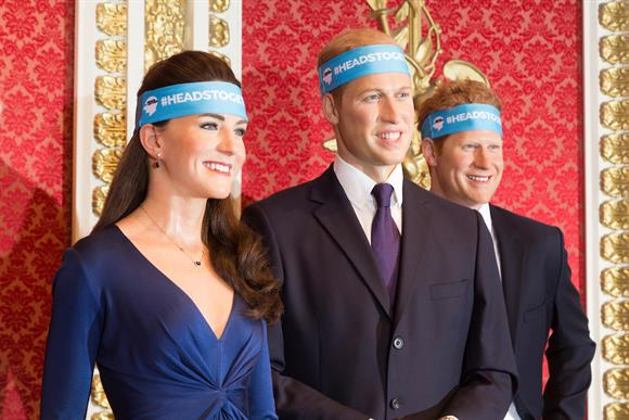 Royal waxworks donned headbands