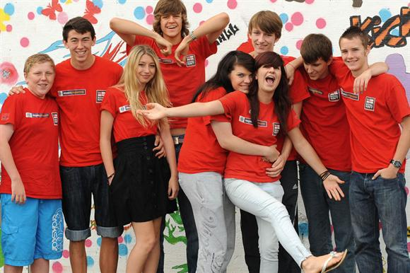 Young people taking part in the NCS scheme