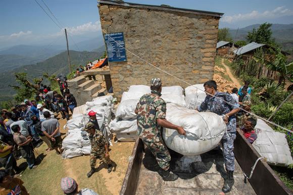 Nepal earthquake relief effort