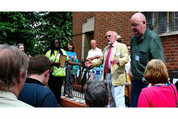 Joe Pilling and New Bridge volunteers celebrating New Bridge's 60th birthday