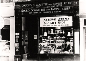 Oxfam's first shop, photographed in the 1950s