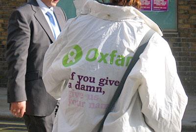 Oxfam street fundraising