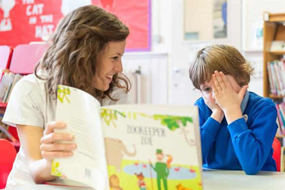The partnership backed a literacy project