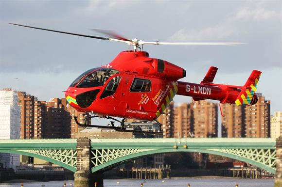 London's Air Ambulance is the firm's charity partner