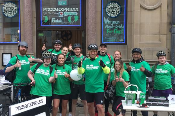 PizzaExpress staff fundraise for Macmillan Cancer Support