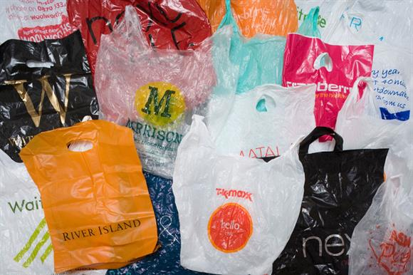 Plastic bags: levy begins in England today