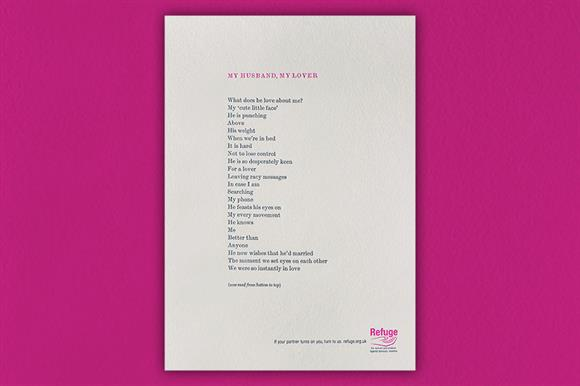 Refuge launches reversible Valentine poem | Third Sector
