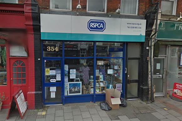 The RSPCA's shops in Richmond, which is due to close (Photograph: Google)