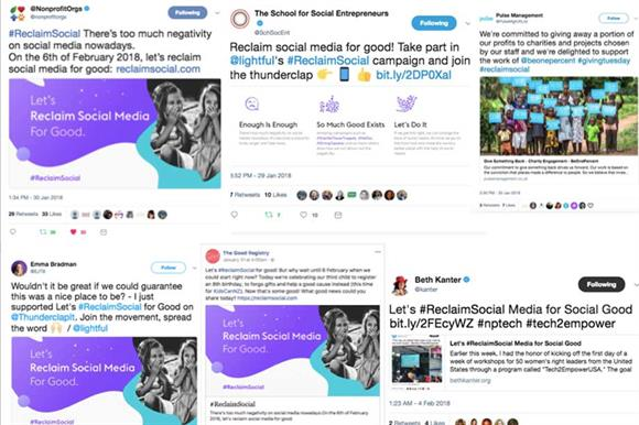 Online campaign reaches millions to 'reclaim social media for good