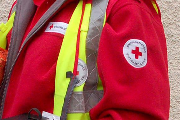 A British Red Cross fundraiser