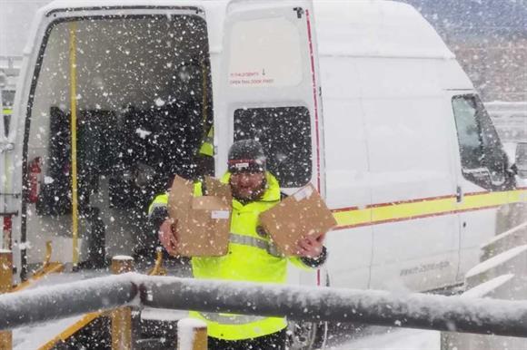 British Red Cross volunteers helped deliver emergency supplies in Scotland