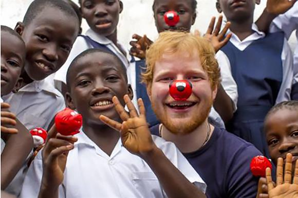 Ed Sheeran supported Red Nose Day