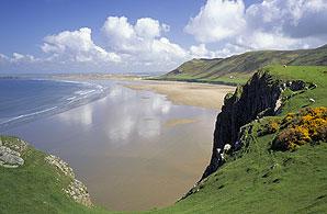 Rhossili on the Gower Peninsula, Wales ©NTPL/Joe Cornish
