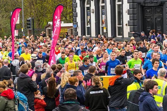 The start of the Sheffield Half Marathon on 6 April