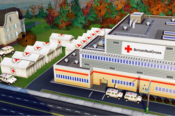 The British Red Cross features in the game Sim City