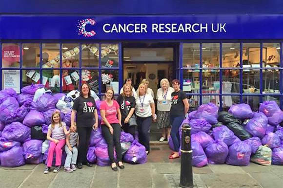 Money raised goes to CRUK