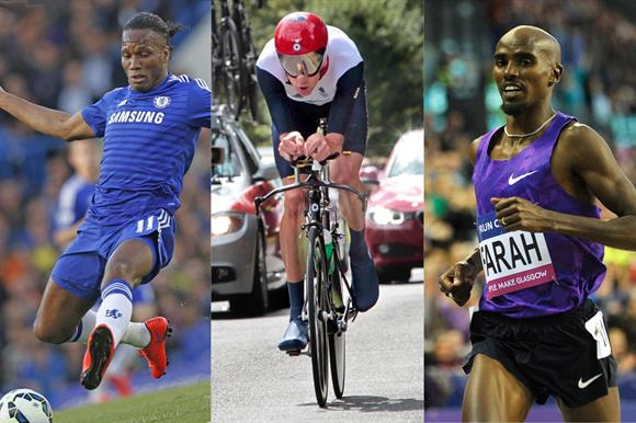 Didier Drogba, Bradley Wiggins and Mo Farah: all have set up foundations