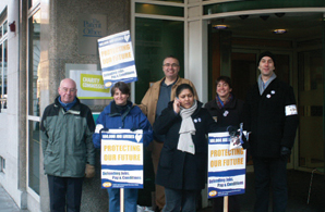 What do we want?: Staff at the commission on strike in London
