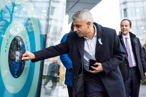 Mayor of London Sadiq Khan donates at City Hall