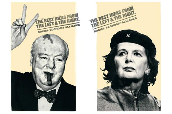 Images from the Social Economy Alliance's new advertising campaign