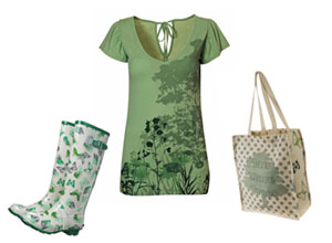 Weelies and dress and a bag: part of the Woodland Trust's collections at Dorothy Perkins