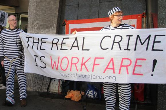 A Boycott Workfare protest