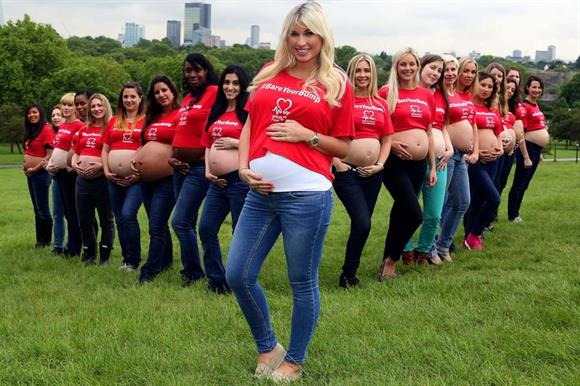 Billie Faiers, who is pregnant, has supported the British Heart Foundation's latest campaign