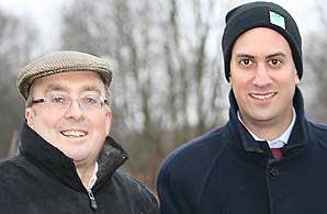 Stephen Bubb (left) and Ed Miliband