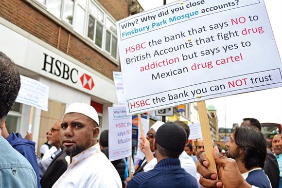 Protests against account closures