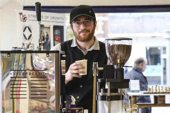 Tom Harris: former rough sleeper, now a barista