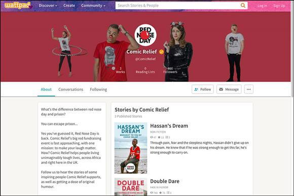 Comic Relief targets millennials via Wattpad for Red Nose