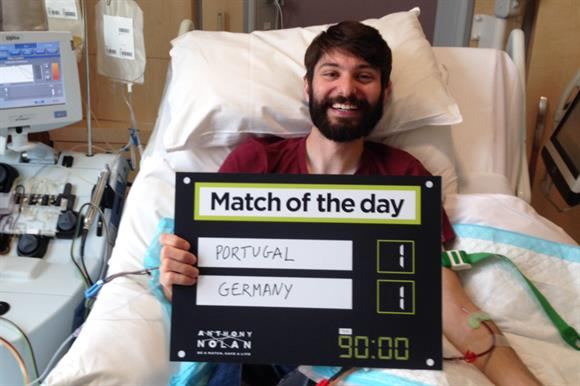 Anthony Nolan has asked stem cell donors to predict the outcome of World Cup matches