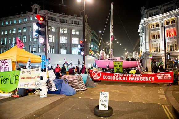 Protests at Oxford Circus in London (Photograph: Getty Images)