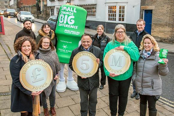 Greene King passes £5m mark for Macmillan Cancer Support
