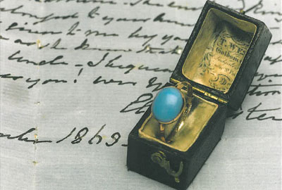 The ring was sold at auction last year