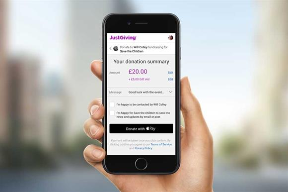 JustGiving is one of the platforms that takes a fee from Gift Aid