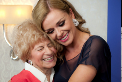 Katherine Jenkins pictured with Heddi Frankl, a member of the Holocaust Survivors Centre