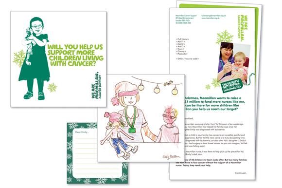 Materials from Macmillan Cancer Support's Greatest Gift Appeal