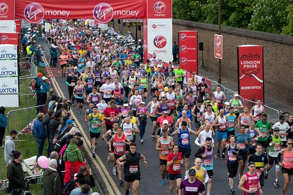 This year's London Marathon (Photograph: Virgin Money London Marathon)