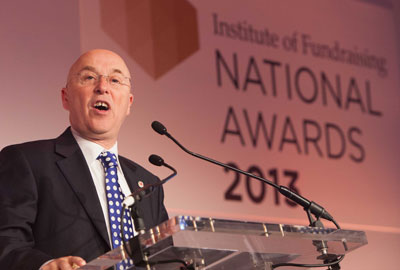 Mark Astarita speaking at the IoF National Awards 2013